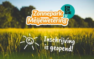 Inschrijving geopend voor zonnepark Meijewetering